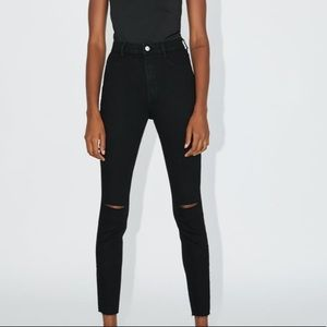 ZARA ripped knee jeans